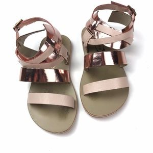 Joyfolie Rose Gold Leather Sandal